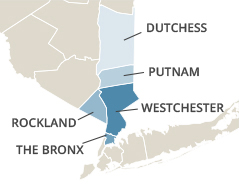 VNS Westchester serves the Bronx,  Putnam, Dutchess, Rockland and Westchester counties.